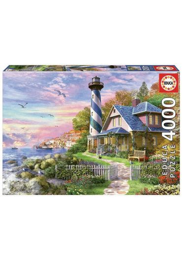 Puzzle 4000 piese Lighthouse at Rock Bay