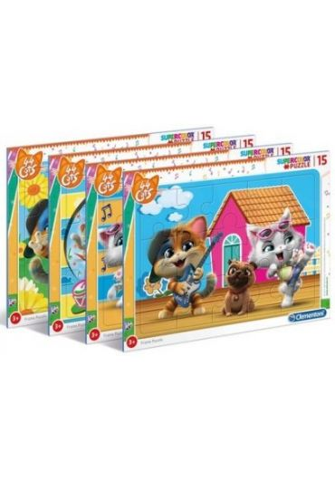 Puzzle 15 piese Cats