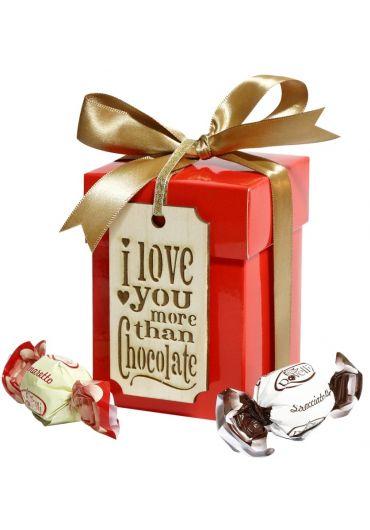 Cutie cadou - I love you more than chocolate