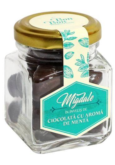 Borcan Bonbon - Migdale in invelis de ciocolata cu aroma de menta