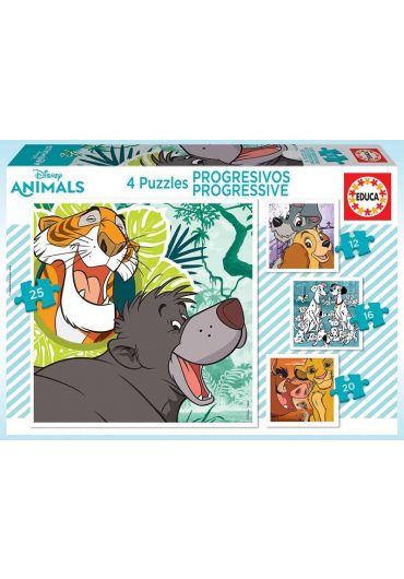 Puzzle 4 in 1 (12+16+20+25) Disney Animals 2