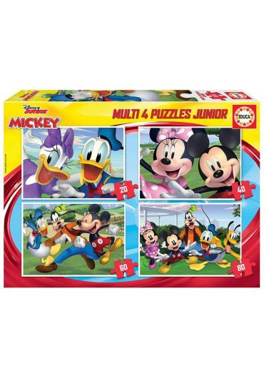 Puzzle 4 in 1 (20+40+60+80) Mickey and Friends