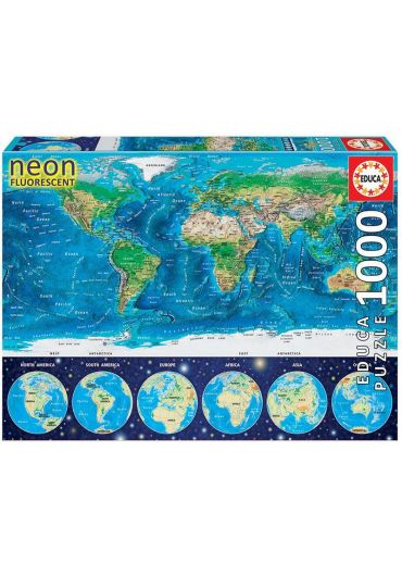 Puzzle 1000 piese World Map