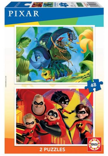 Puzzle 2 in 1 (48+48 piese) A Bug's Life & The Incredibles