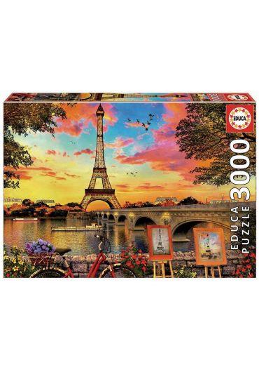 Puzzle 3000 piese Sunset in Paris