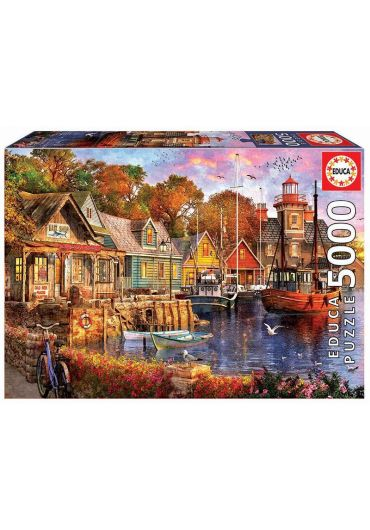 Puzzle 5000 piese The Harbour Evening