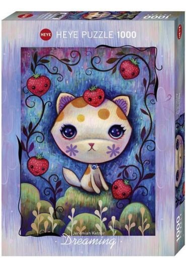 Puzzle 1000 piese Dreaming Strawberry Kitty
