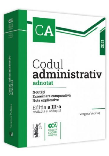 Codul administrativ adnotat, ed. 3