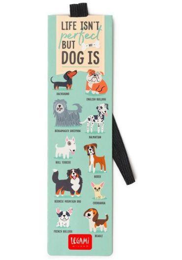 Semn de carte cu elastic - Dogs