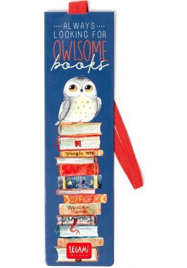 Semn de carte cu elastic - Owlsome Books