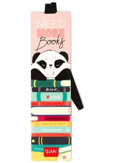 Semn de carte cu elastic - Panda Books