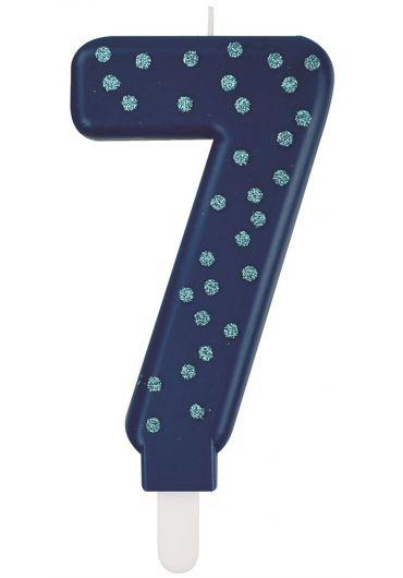 Lumanare aniversara Maxi - Cifra 7 - Blue