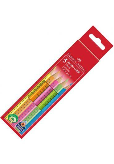 Creioane colorate 5 culori jumbo grip
