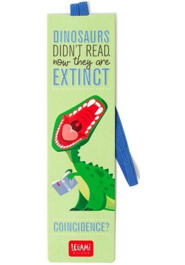 Semn de carte cu elastic - Dino
