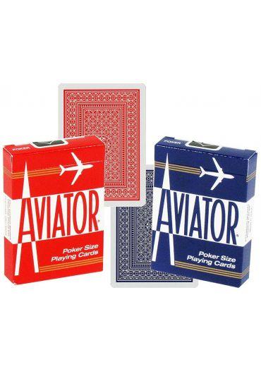 Carti de joc Bicycle Aviator Poker rosu/albastru
