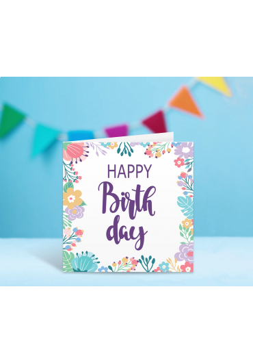 Felicitare - Happy Birthday! - Flori