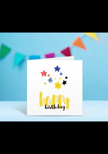 Felicitare - Happy Birthday! - Stelute