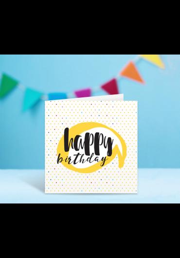 Felicitare - Happy Birthday! - Buline
