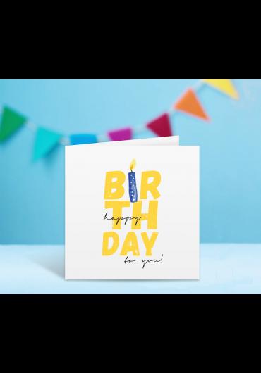 Felicitare - Happy Birthday to you! - Lumanare