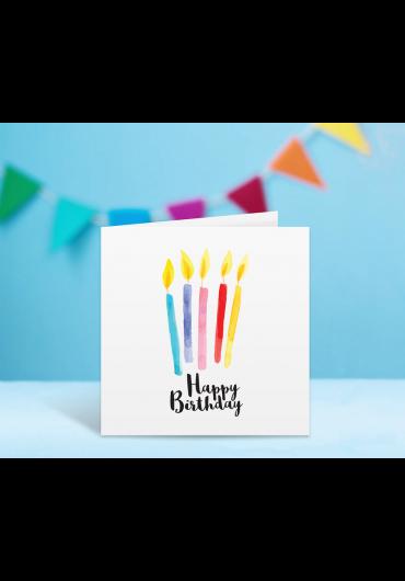 Felicitare - Happy Birthday! - Lumanari