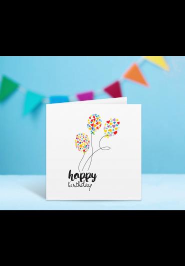 Felicitare - Happy Birthday! - Baloane