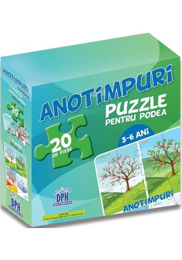 Puzzle pentru podea - Anotimpuri (3-6 ani)