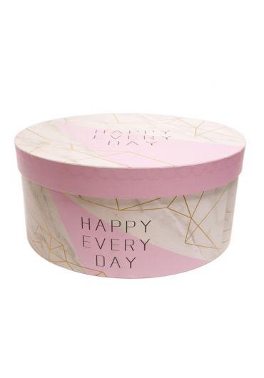 Cutie cadou rotunda 25X12 cm Happy Every Day
