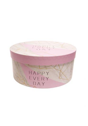 Cutie cadou rotunda 22X10 cm Happy Every Day