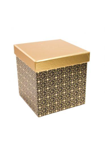 Cutie cadou patrata 13x13 cm, capac auriu, Noir