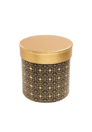 Cutie cadou cilindrica 12x12 cm, capac auriu, Noir