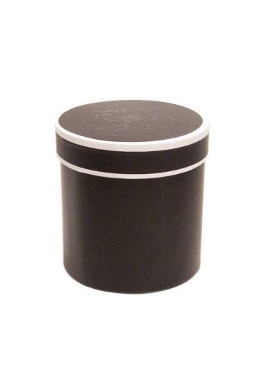 Cutie cadou cilindrica 12x12 cm Simply Negru