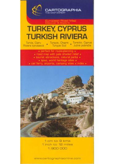 Harta rutiera Turcia - Cipru - Riviera Turciei