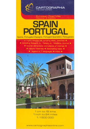 Harta rutiera Spania - Portugalia