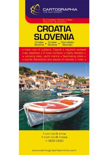 Harta rutiera Croatia - Slovenia