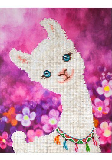 Tablou cu diamante inramat - Alpaca dragalasa