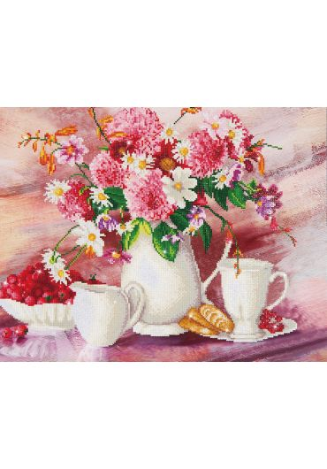 Tablou cu diamante - Invitatie la ceai