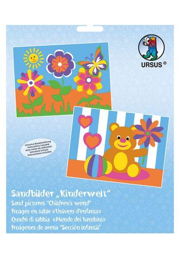 Set de 2 planse de colorat cu nisip - Lumea copiilor