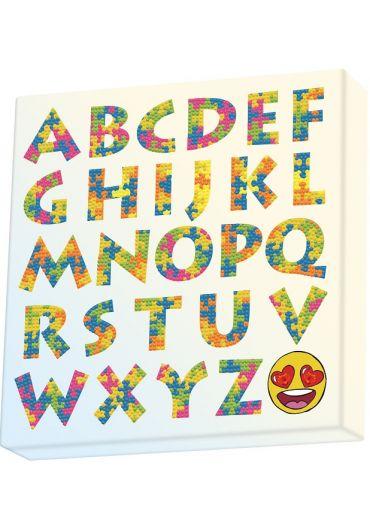 Tablou Diamond Box – Literele alfabetului