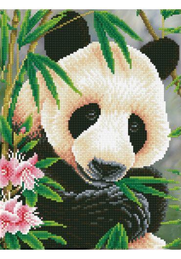 Tablou cu diamante - Urs panda