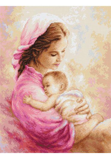 Set goblen cu ata si ac - Iubire materna