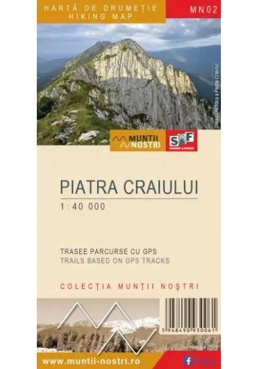 Harta de drumetie - Muntii Piatra Craiului - Ed. 3
