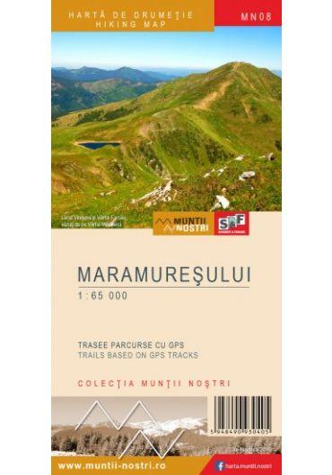 Harta de drumetie - Muntii Maramuresului - Ed. 2