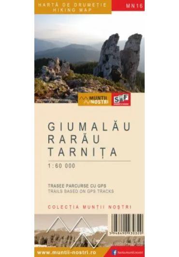 Harta de drumetie - Muntii Giumalau - Rarau - Tarnita
