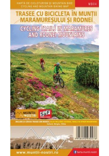 Harta de cicloturism si mountain bike - Trasee Cicloturistice in Muntii Maramuresului si Rodnei