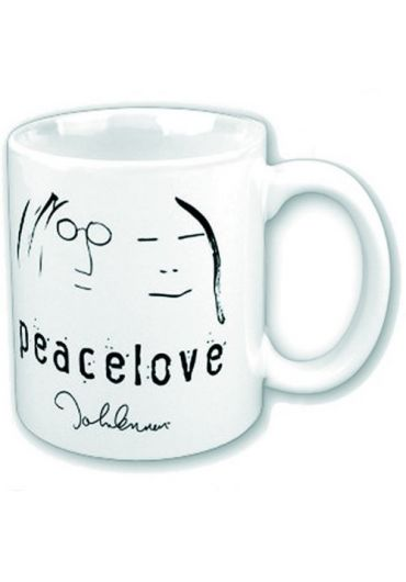 Cana ceramica - John Lennon - Peace & Love