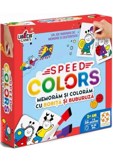 Joc Speed Colors - Memoram si coloram cu Bobita si Buburuza