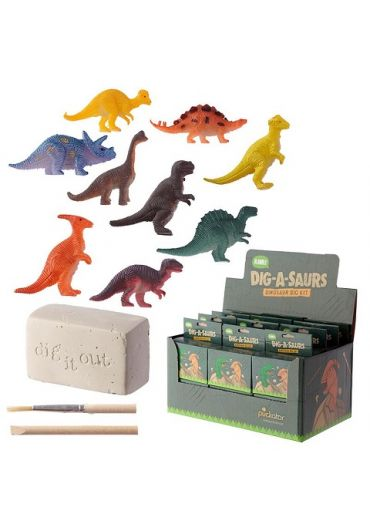 Kit excavare fosile - Rawr Mini Dinosaur Dig-A-Saurs Dig it Out