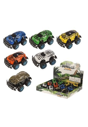 Jucarie - Mini Jungle Car Pullback Action Toy