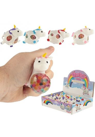 Jucarie - Squeezy Unicorn Mesh Ball Beads Toy