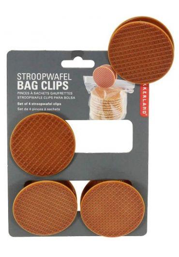 Set 4 clesti pentru pungi - Waffle